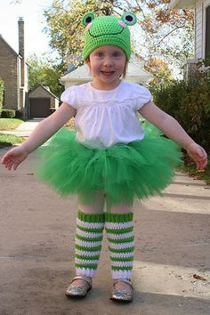 A Year with Frog and Toad - Frog costume WITH tutu. Because you can never have too much tutu.