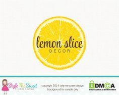 Lemon Slice Decor Premade Logo Design