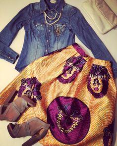 Shanti Print Midi Skirt