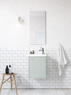 | Badrumsinspiration | Nytt badrumsskåp i serien Compact. För dig med mindre badrum här i färgen mintgrön. | Ballingslöv.