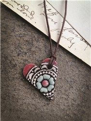 Compelled Designs Flower Heart Necklace - MAD Marketplace