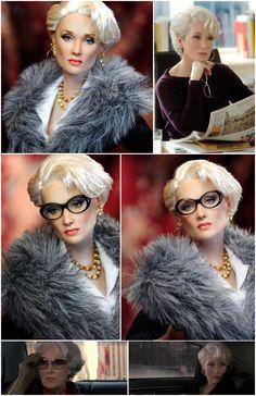 Miranda Priestly (Meryl Streep) Barbie (repainted by Noel Cruz)
