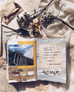 there is a hurricane inside my ribcage where a heart used to be — change // art journal + poetry by noor unnahar // journaling ideas inspiration notebook stationery, scrapbooking diy craft for teens, artsy poetic words quotes writing writers of color pakistani artist poets, flatlay instagram photography, tumblr indie pale grunge indie beige aesthetics floral pressed flowers //