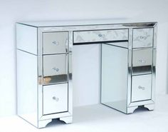 Large Mirrored Furniture Dressing Console Table Desk Avantgarde Range
