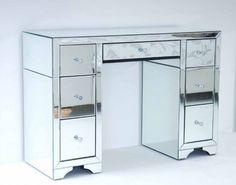 Large Mirrored Furniture Dressing Console Table Desk Avantgarde Range Mirror
