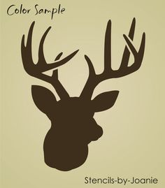 New 2 pc. stencil size x for antler rack. stencil size x for deer head (actual image size when. New Stencil, ready to use. stencil can be used with any paint on most flat surfaces. Stencil Painting, Tole Painting, Stenciling, Deer Head Stencil, Hunting Signs, Archery Hunting, Deer Hunting, Animal Stencil, Cabin Signs