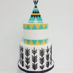Tribal Birthday Cakes, Teepee Birthday Cake, Tribal Cakes, Arrow Birthday Cake, Tribal Cake Birthdays, Wild One Birthday Cake, Tribal First Birthday Boys, ...