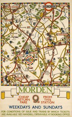 Morden London Underground poster
