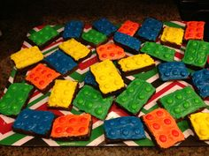 Colin's birthday Lego brownies