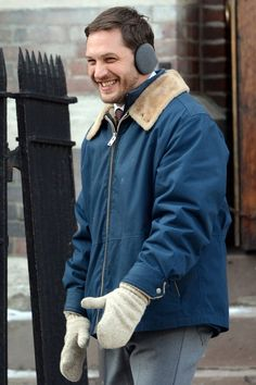 Tom Hardy on the set of Animal Rescue in Brooklyn