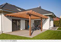 Pergola With Glass Roof Cheap Pergola, Outdoor Pergola, Backyard Pergola, Pergola Plans, Gazebo, Front Porch Steps, Patio Steps, Patio Deck Designs, Patio Design