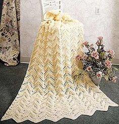 Popcorn Ripple Afghan free crochet pattern