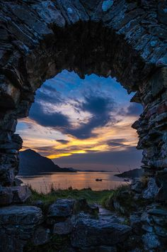 ~~Strome Castle Ruins ~ sunset in the Scottish Highlands by Gavin Johnson