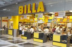 The grocery store Billa. Everyone had at least one bright yellow Billa bag.