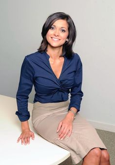 images of lucy verasamy hair styles Itv Weather Girl, Weather Girl Lucy, Sexy Blouse, Blouse And Skirt, Sexy Older Women, Sexy Women, Bollywood, Tv Presenters, Gorgeous Women