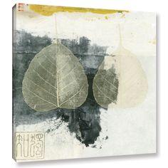 ArtWall Elena Ray 'Wabi-Sabi Bodhi Leaf Collage 4' Gallery-wrapped Canvas