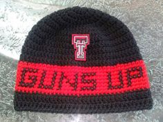 Check out this item in my Etsy shop https://www.etsy.com/listing/219302866/personalized-texas-tech-inspired-crochet