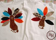 The Scrap Shoppe: Footprint Turkey Shirts