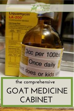 A list of the best traditional medications to have on hand for goat emergencies