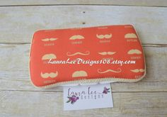 READY TO SHIP Rustic Red and Craem Mustache by LauraLeeDesigns108