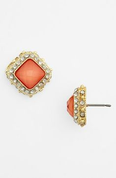 BP. Rhinestone Frame Post Earrings (Juniors) available at #Nordstrom and only $10.00! Me likey the Blue or Ivory ones.