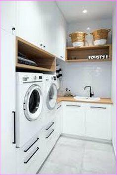 Modern Laundry Rooms, Laundry Room Layouts, Laundry Room Remodel, Laundry Room Cabinets, Farmhouse Laundry Room, Laundry Room Organization, Laundry In Bathroom, Farmhouse Style, Laundry Shelves