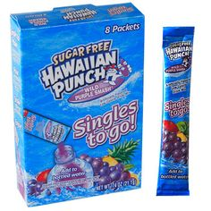 Add a big wild-grape PUNCH to plain old water! Take the refreshing taste of sugar-free Wild Purple Smash® Hawaiian Punch® with you when you're on the go — to school, work, the gym,