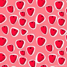May need to commission a skirt in one of these fabrics for ella! Summer Fruits and Berries - Amy Walters Illustrator
