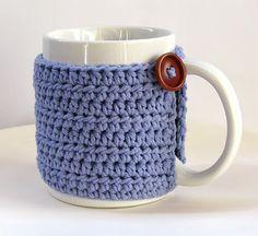 Taza forrada de crochet. Lady Crochet