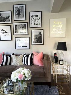 75 first apartment decor ideas budget Cute Apartment, Apartment Living, Apartment Interior, Girl Apartment Decor, Apartment Layout, Bedroom Apartment, Style Salon, Decoration Inspiration, Decor Ideas