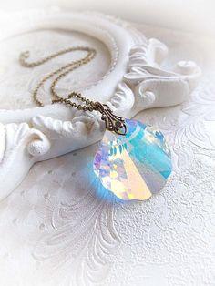 Swarovski cristal collar sirena sirena collar por MidnightVision