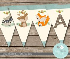 Ehi, ho trovato questa fantastica inserzione di Etsy su https://www.etsy.com/it/listing/222605415/woodland-baby-shower-decorations-bunting