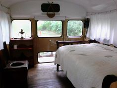Sweatsville: Simple Rustic School Bus Conversion