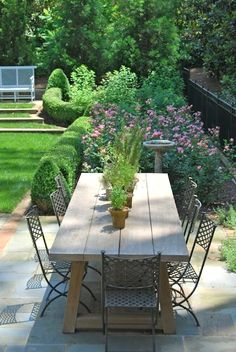 Great and beautiful outdoor patio and garden furniture brings comfort and function to the outdoor area. Possessing a spacious table and easy to use comfortable chairs in your patio can easily make a lots of Outdoor Areas, Outdoor Rooms, Outdoor Dining, Outdoor Decor, Outdoor Patios, Outdoor Seating, Garden Furniture, Outdoor Furniture Sets, Furniture Ideas