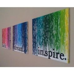 Melted Crayons on canvas and stencils. Stinkin awesome.