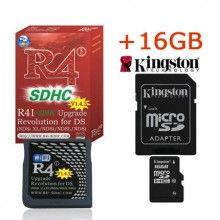 R4i SDHC V1.4 .4 DSi XL Card with 16GB Kingston microSDHC Memory Card-Shipping:Free Shipping