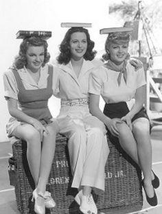 "Judy Garland, Hedy Lamarr and Lana Turner in ""Ziegfeld Girl"" 1941"