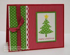 a card a day: Polka Dot Christmas Tree