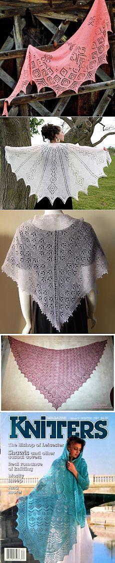 Шали спицами. Схемы. 16 / Вязание спицами / Вязание для женщин спицами. Схемы