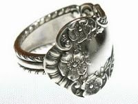 Through the Front Door: spoon ring tutorial - 2 styles to choose from.