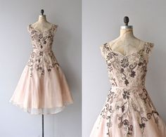 Villarceaux dress   vintage 1950s dress • formal 50s dress