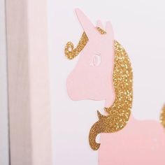 3 set for Girls B. Set of 3 wall pictures for girls, made of special, thick, creative paper, with effect (it's not printed). Pink metallic and golden glitter paper is used. Nursery Decor Boy, Nursery Room, Unicorn Princess, Golden Glitter, Baby Presents, Wall Pictures, Picture Wall, Girl Room, Wall Prints
