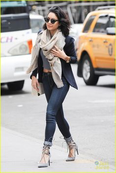 Vanessa Hudgens Flashes Some Midriff in Chilly New York