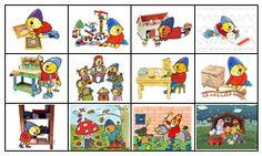 Kleuterjuf in een kleuterklas: Planbordkaarten van Pompom   Methode SCHATKIST Visible Learning, Arno, Clipart, Diy For Kids, Planer, Classroom, Teaching, School, Creative