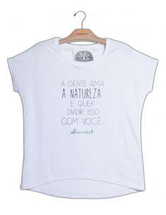 Camiseta Básica Branca www.usenatureza.com #UseNatureza #JeffersonKulig