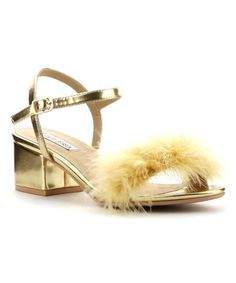 Love this Gold Faux Fur Gioco Pump on #zulily! #zulilyfinds