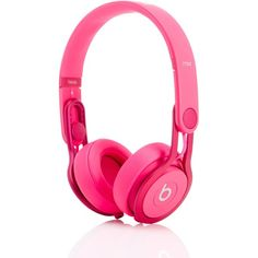 Beats Headphones Pink Mixr Headphones (220 AUD) ❤ liked on Polyvore featuring accessories, tech accessories, technology, headphones, electronics and pink
