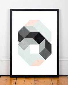 Abstract print Geometric art Minimalist by ShopTempsModernes