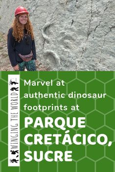 When I was in Sucre, Bolivia, I couldn't wait to explore Parque Cretácico. This place is home to the famous Cal Orcko cliff and real dinosaur footprints! Real Dinosaur, Bolivia Travel, Travel Articles, World Traveler, Where To Go, Traveling By Yourself, Travel Inspiration, Travel Photography, Adventure Honeymoons