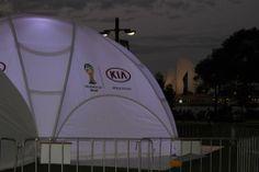 Creative Structures Hexadome Medium Brand Activation Kia World Cup Roadshow Australia